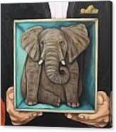 Elephant In A Box Canvas Print