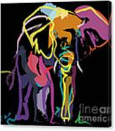 Elephant In Colour Canvas Print