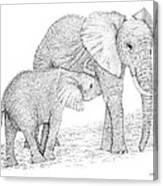 Elephant Mother Canvas Print