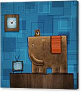 Elephant On The Wall Canvas Print