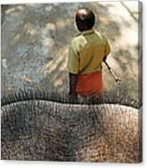 Elephant Ride Canvas Print