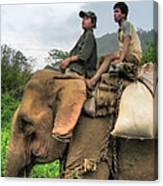 Elephant Rides Canvas Print