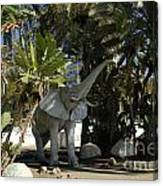 Elephant Show In Marbella Canvas Print
