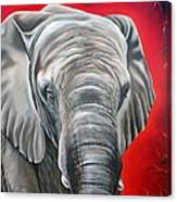 Elephant Six Of Eight Canvas Print