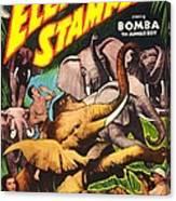 Elephant Stampede, Aka Bomba And The Canvas Print