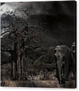 Elephants Of The Serengeti Canvas Print