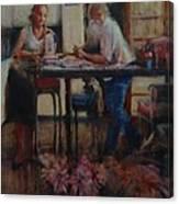 Elette De Wet And Uncle Jacques Canvas Print