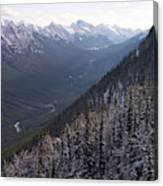 Elevated View Down U-shaped Valley Canvas Print