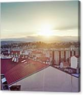Elevated View Of City, Nice, France Canvas Print