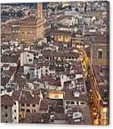 Elevated View Of Florence Canvas Print