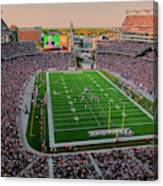 Elevated View Of Gillette Stadium, Home Canvas Print