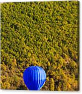 Elevated View Of Hot Air Balloon Canvas Print