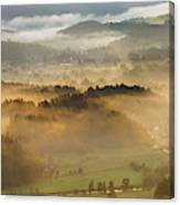 Elevated View Of Trees On Hill Canvas Print