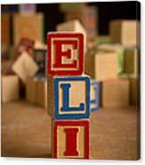 Eli - Alphabet Blocks Canvas Print