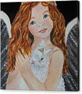 Eliana Little Angel Of Answered Prayers Canvas Print