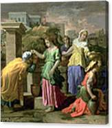 Eliezer And Rebecca At The Well Canvas Print