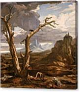 Elijah In The Desert Canvas Print
