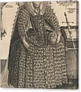 Elizabeth, Queen Of England, C.1603 Canvas Print