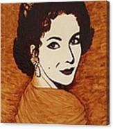 Elizabeth Taylor Original Coffee Painting On Paper Canvas Print