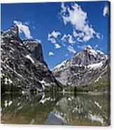 Elk Lake Panorama 1 Canvas Print