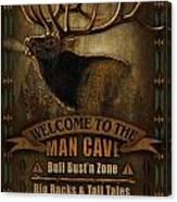 Elk Man Cave Sign Canvas Print