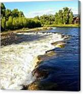 Elk River At Marabou Ranch Canvas Print