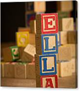 Ella - Alphabet Blocks Canvas Print