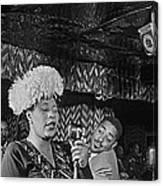Ella Fitzgerald And Dizzy Gillespie William Gottleib Photo Unknown Location September 1947-2014. Canvas Print