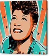 Ella Fitzgerald Pop Art Canvas Print