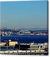 Elliot Bay Panorama Canvas Print
