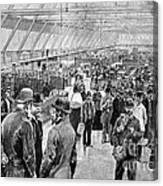 Ellis Island Immigration Hall, 1890s Canvas Print
