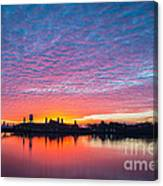 Ellis Island Silhouette Sunrise Canvas Print