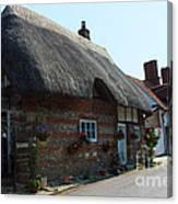 Elm Cottage Nether Wallop Canvas Print