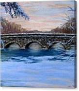 Elm Street Bridge On A Winter's Morn Canvas Print