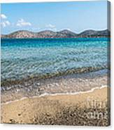 Elounda Beach Canvas Print