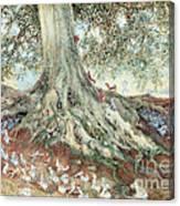 Elves In Rabbit Warren Canvas Print