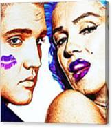 Elvis And Marilyn Monroe Canvas Print