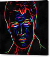 Elvis At Neon Canvas Print