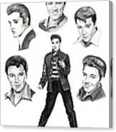 Elvis Elvis Elvis Canvas Print
