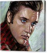 Elvis King Of Rock And Roll Canvas Print