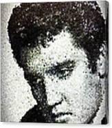 Elvis Love Me Tender Mosaic Canvas Print
