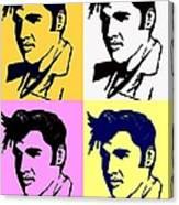 Elvis Pop X Four Canvas Print