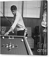 Elvis Presley and Vernon Playing Bumper Pool 1956 Canvas Print