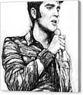 Elvis Presley Art Drawing Sketch Portrait Canvas Print
