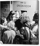 Elvis Presley Hugging Fans 1956 Canvas Print