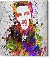 Elvis Presley in Color Canvas Print