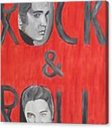 Elvis Presley King Of Rock And Roll Canvas Print