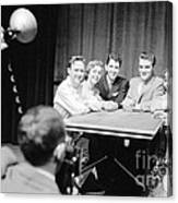 Elvis Presley Photographed With Fans 1956 Canvas Print