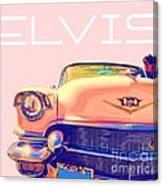 Elvis Presley Pink Cadillac Canvas Print
