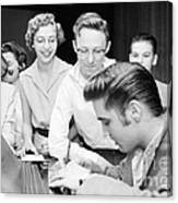 Elvis Presley Signing Autographs For Fans 1956 Canvas Print